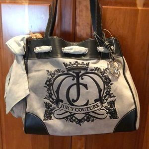 Juicy Couture Gray Tote with Bow